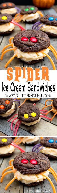 Spider Ice Cream Sandwiches