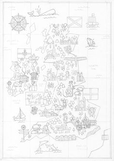 A little map I did for fun, I tried to put in it all the things that I like from the UK, which are quite a lot...