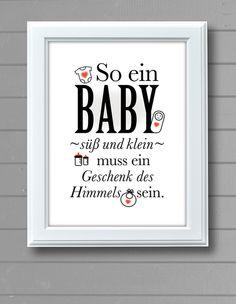 So ein Baby - süß und klein - ... LOVEMAG  von BarbsKids auf DaWanda.com