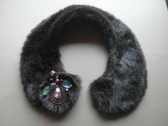 Handmade synthetic fur Peter Pan vintage style collar от Capsis