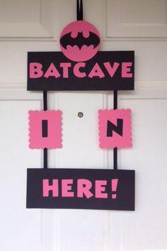 Super Hero Batman/Batgirl Birthday Door Sign by TheGirlNXTdoor