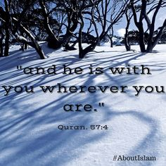 Allah is always with us. Alhamdulillah, Allah u akbar