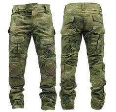 Tactical Pants with knee pads, Camping Hiking Huntin, A-TACS FG, ACU, CP $65