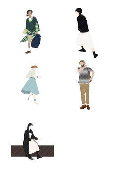 EVERY WEEK PEOPLE 5 #illustration #illustrator #people #peopleillustration #architecture #architectural #adobe #adobeillustrator #adobephotoshop #person #human #girl #boy Architecture Portfolio Examples, Architecture Collage, Architecture Graphics, People Illustration, Flat Illustration, Render People, Model Photoshop, Human Sketch, People Figures