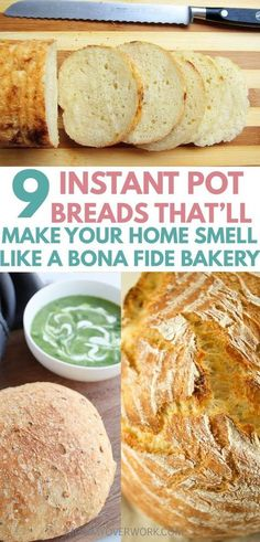 Best INSTANT POT BREAD recipes for the instant pot duo or lux! Bread in an electric pressure cooker is fast easy and perfect for busy families! Learn how to make healthy gluten free low carb paleo or keto friendly or vegan dough. Sourdough no knead Slow Cooker Recipes, Cooking Recipes, Pressure Cooker Recipes Vegetarian, Healthy Bread Recipes, Diet Recipes, Cooking Ham, Recipies, Cooking Salmon, Pressure Cooker Desserts
