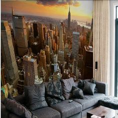 Custom Wallpaper Wall Bride Paes City Wall Landscape Background Sofa Fourth York Photo Wallpaper For Living Room Bedroom Wallpaper City, 3d Wallpaper For Walls, Cheap Wallpaper, Tv In Bedroom, Bedroom Sofa, Print Wallpaper, Photo Wallpaper, Interactive Walls, Landscape Background