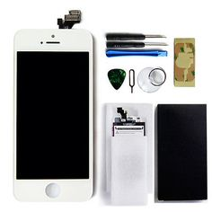 LCD Lens Touch Screen Display Digitizer Assembly Replacement for iPhone 5 White | eBay