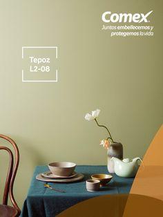 Llena de un aire sofisticado las paredes de tu hogar con nuestro color #Tepoz #Tendencias #Decoración #ComexPinturerías