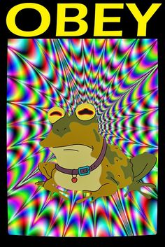 This Listing is for the Futurama's HypnoToad: OBEY Poster    You'll only find this poster in three places, because I created it and exclusively license this to one international company (Keen Commodities). The other places are here, and my website.  I'm super stoked to be able to offer it to you here now.    HypnoToad: OBEY is:  Designed by myself.  Size: 12x18 inch   Printed on high quality poster paper  Shipped in an industry standard 14x2 inch poster shipping tube.     Enjoy showcasing…