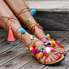 scarpe sandali pom pom (7)