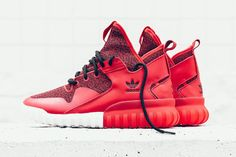 finest selection 11ca7 1bacb Tonal red sneaker colorways are definitely not going away any time soon, as  this newest rendition of the adidas Originals Tubular X shows.