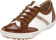 Women's Ecco, Street Luxe golf hybrid lace up casual  A street inspired golf hybrid casual sneaker  Luxurious leather uppers with stitching accents  soft and smooth second skin linings  CFS technology increases the air flow throughout the shoe keeping feet comfortable  Cushioned, Removable second skin leather covered insole with Comfort Fibre System  Durable traction TPU provides more ...