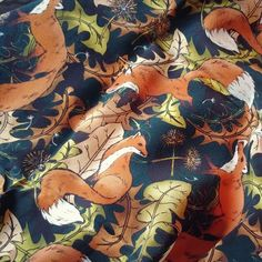 39e59852601d DANDY FOX Mens Pure Silk Long Scarf Country Fashion Day Cravat Green  Wildlife Menswear Accessory Groom Wedding Top Pocket Gift for Him Dandy