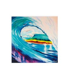 """""""That salty feeling"""" is a print from an original water-mixable oil on canvas. Whether you like to be in the wave or watching waves, there's nothing like the smell of the sea. The mountain in the background is Ben Bulben in Co. Surf Art, Oil On Canvas, Ireland, Surfing, Mountain, Waves, Sea, Feelings, The Originals"""
