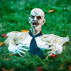 Improvements Ground Shaking Zombie Halloween Decoration (310 HRK) ❤ liked on Polyvore featuring home, home decor, holiday decorations, halloween zombies, outdoor halloween decoration, zombie decor, outdoor holiday decor, halloween home decor, outdoor home decor and outdoor holiday decorations
