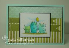 3 lil MONSTAHS by paulatracy - Cards and Paper Crafts at Splitcoaststampers