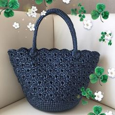 """New Cheap Bags. The location where building and construction meets style, beaded crochet is the act of using beads to decorate crocheted products. """"Crochet"""" is derived fro Crochet Tote, Crochet Handbags, Crochet Purses, Bead Crochet, Diy Crochet, Crochet Hat Tutorial, Creative Knitting, Embroidered Bag, Crochet Round"""