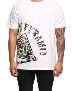 on sale 22ddb 845ed Black Pyramid Big Logo T-Shirt White