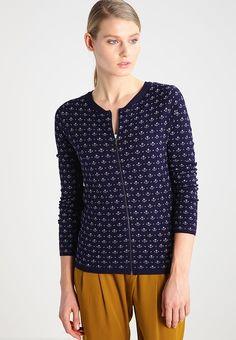 MENCRE  - Neuletakki - bleu nuit Blouse, Long Sleeve, Sleeves, Tops, Women, Fashion, Midnight Blue, Moda, Long Dress Patterns