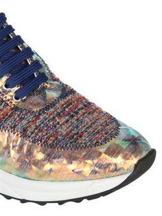 Iridescent sneakers by SARAH SUMMER - LUISAVIAROMA
