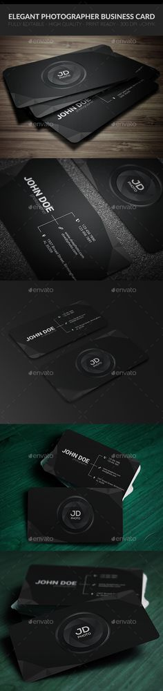 Elegant Photographer Business Card Template PSD #design Download: http://graphicriver.net/item/elegant-photographer-business-card/13331312?ref=ksioks