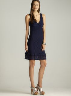 V-Neck Knot Front Lace Dress