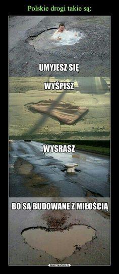 Pravda o slovenských silnicích Stupid Funny Memes, Wtf Funny, Hilarious, Funny Images, Funny Photos, Polish Memes, Funny Motivation, Man Humor, Reaction Pictures