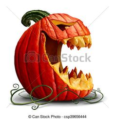 Halloween pumpkin and scary jack o lantern character in a side view with an open mouth on a white background as a symbol for fall and autumn festive communication with illustration elements - buy this illustration on Shutterstock & find other images. Scary Halloween Pumpkins, Halloween Jack, Diy Halloween Decorations, Holidays Halloween, Halloween Crafts, Pumkin Decoration, Diy Halloween Props, Halloween Costumes, Holiday Costumes