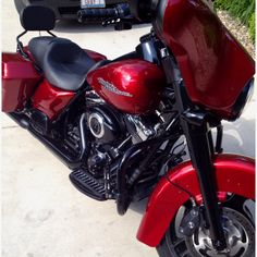 2012 Red Ember Sunglo Street Glide blacked out