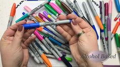 Learn new techniques and tricks for getting the most out of your gel pens! Learn to color with gel pens. Sharpie Projects, Sharpie Crafts, Sharpie Markers, Sharpie Art, Sharpies, Cool Coloring Pages, Printable Coloring Pages, Adult Coloring Pages, Coloring Books