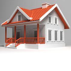 3d model of houses