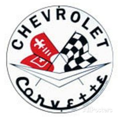45 meilleures images du tableau corvette corvette rolling carts 1960 Chevy Stingray chevrolet chevy corvette racing flags round tin sign at allposters
