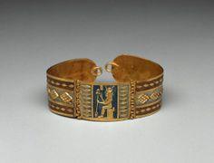 Bracelet with image of Hathor      Nubian, Meroitic Period, 100 B.C.       Gebel Barkal, Nubia, Sudan