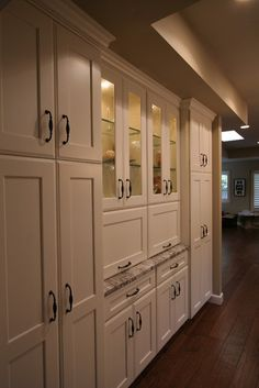 New Kitchen Pantry Built In Appliance Garage Ideas Farmhouse Remodel, Farmhouse Style Kitchen, Kitchen Redo, Kitchen Pantry, Kitchen Remodel, Kitchen Pulls, Black Kitchen Countertops, Floor To Ceiling Cabinets, Built In Pantry