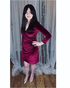Deep red velvet Burda 6829 for I Dress, Red Velvet, Claire, Backdrops, Sewing Patterns, Goth, Instagram Posts, Deep, Messages