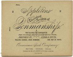 Appleton's penmanship booklet, vintage school clip art, old school digital graphics, vintage printable school, antique school book image