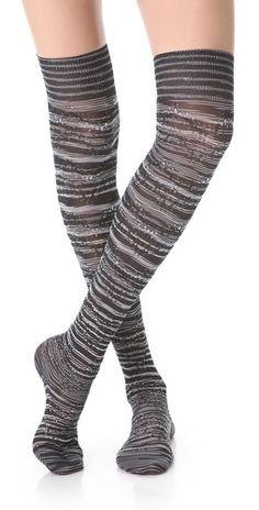 Missoni Metallic Thigh High Socks