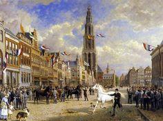 Paardenkeuring Grote markt, Groningen, door: Otto Eerelman