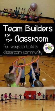 for the Classroom Team builders for the classroom! Great ides to build teamwork and friendship as we head back to school this fall!Team builders for the classroom! Great ides to build teamwork and friendship as we head back to school this fall! Games For Kids Classroom, Building Games For Kids, Gym Games For Kids, Classroom Team Building Activities, Children Games, Building Ideas, Pe Games For Kindergarten, Icebreaker Games For Kids, Icebreakers For Kids