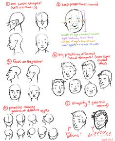 and for anon, here's some tips on head shapes! I hope this isn't too terrible :') x
