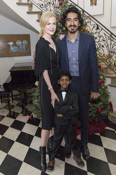 Nicole Kidman, Dev Patel & Sunny Pawar from The Big Picture: Today's Hot Pics The Lion co-stars celebrate their Golden Globe-nominated film during a bash hosted by Ruffino Wine at the British Consulate in L. Sunny Pawar, Dev Patel, King Of Kings, Nicole Kidman, Big Picture, Hottest Photos, Good Movies, Sunnies