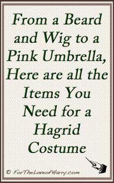 Everything you need to dress up as Hagrid. #hagrid #hagridcostume