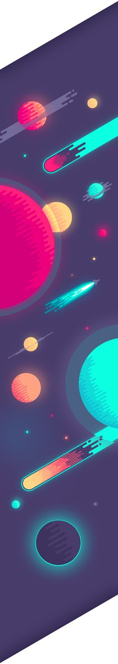 Space illustration + wallpaper & poster.Copyright @ 2013 Nina Geometrieva