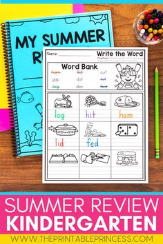 Make reviewing important Kindergarten skills fun with this comprehensive end-of-year review. This packet is filled with well over 100 pages of print and go activities that can be used in the classroom as an end-of-the-year review or turned into a booklet to send home as a summer review packet to help prevent summer slide.