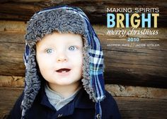 Spirits Bright-Custom Holiday Photo Card. $15.00, via Etsy.