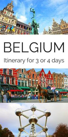 Visiting Belgium for the first time and wondering where to go and how much time you need for the main highlights? This suggested itinerary for 3 or 4 days includes all the must-see places in Belgium… Europe Travel Tips, European Travel, Travel Advice, Travel Guides, Places To Travel, Travel Destinations, Travelling Tips, Trip Advice, Europe Places