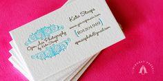 40 Letterpress Business Cards That Spell Elegance