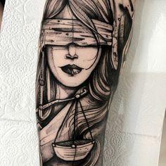 Justice Justizia Tattoo Gerechtigkeit Tattoo 5