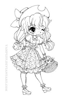 My Little Lolita: Applejack by *YamPuff on deviantART    LOVE all her drawings - tons of coloring options