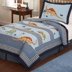 Another great find on Walking Dinosaur Quilt Set by Pem America Boys Quilt Patterns, Twin Quilt, Twin Sheet Sets, Boy Quilts, Queen Quilt, Quilt Sets, Bed Sheets, Bedding Sets, Blanket